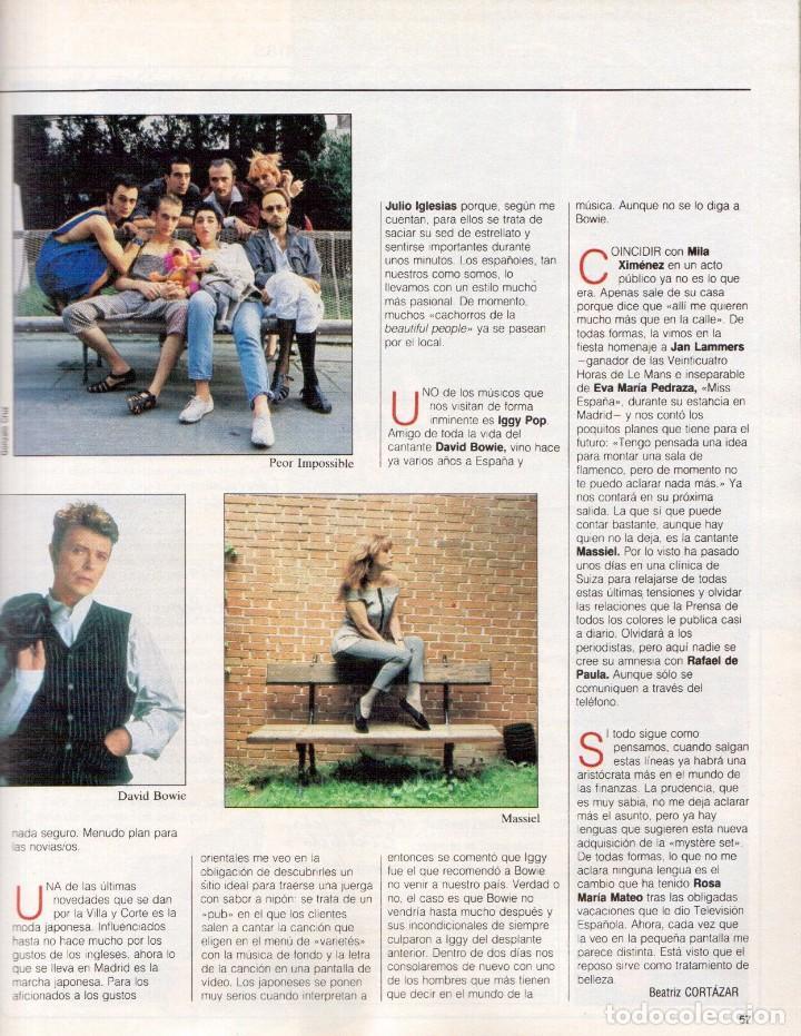 Coleccionismo de Revista Blanco y Negro: 1988. ROCIO JURADO. INÉS SASTRE. ALEJANDRA GREPI. EMMA SUÁREZ. LYDIA BOSCH. VER SUMARIO. - Foto 10 - 134360978