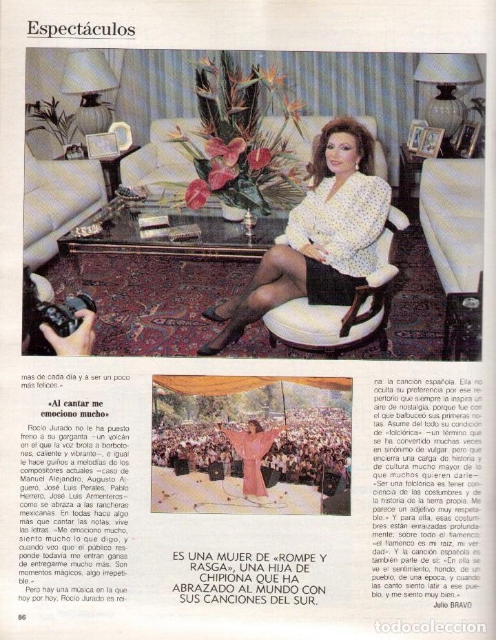 Coleccionismo de Revista Blanco y Negro: 1988. ROCIO JURADO. INÉS SASTRE. ALEJANDRA GREPI. EMMA SUÁREZ. LYDIA BOSCH. VER SUMARIO. - Foto 14 - 134360978