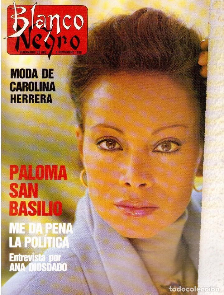 1988. PALOMA SAN BASILIO. ALEJANDRA GREPI. MARTA SÁNCHEZ. MAYA PLISETSKAYA. JAVIER MARISCAL. VER. (Coleccionismo - Revistas y Periódicos Modernos (a partir de 1.940) - Blanco y Negro)