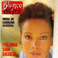 Coleccionismo de Revista Blanco y Negro: 1988. PALOMA SAN BASILIO. ALEJANDRA GREPI. MARTA SÁNCHEZ. MAYA PLISETSKAYA. JAVIER MARISCAL. VER.. Lote 134370418