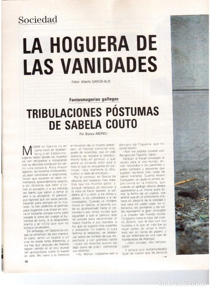 Coleccionismo de Revista Blanco y Negro: 1988. PALOMA SAN BASILIO. ALEJANDRA GREPI. MARTA SÁNCHEZ. MAYA PLISETSKAYA. JAVIER MARISCAL. VER. - Foto 3 - 134370418