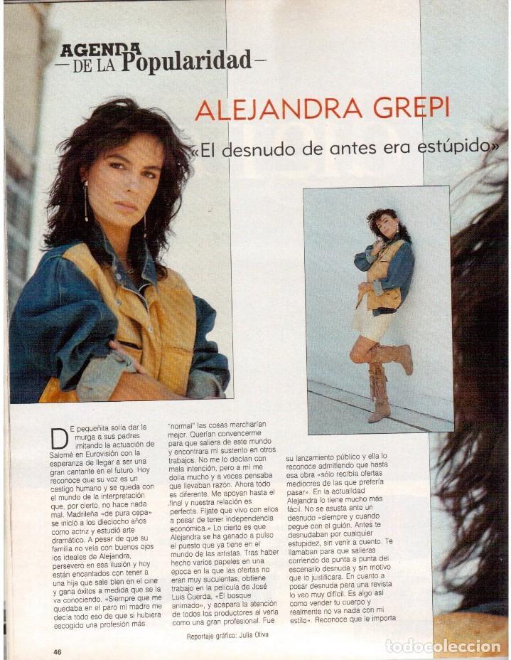 Coleccionismo de Revista Blanco y Negro: 1988. PALOMA SAN BASILIO. ALEJANDRA GREPI. MARTA SÁNCHEZ. MAYA PLISETSKAYA. JAVIER MARISCAL. VER. - Foto 5 - 134370418