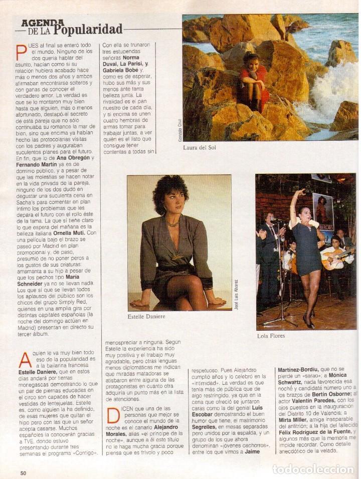 Coleccionismo de Revista Blanco y Negro: 1988. PALOMA SAN BASILIO. ALEJANDRA GREPI. MARTA SÁNCHEZ. MAYA PLISETSKAYA. JAVIER MARISCAL. VER. - Foto 8 - 134370418