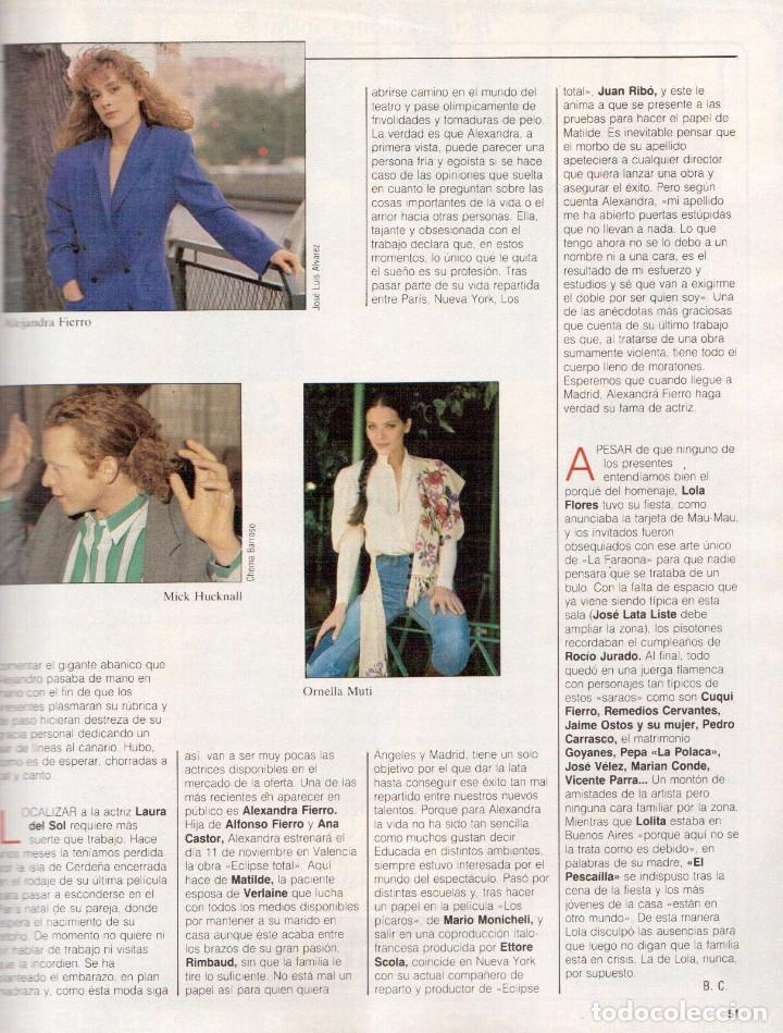Coleccionismo de Revista Blanco y Negro: 1988. PALOMA SAN BASILIO. ALEJANDRA GREPI. MARTA SÁNCHEZ. MAYA PLISETSKAYA. JAVIER MARISCAL. VER. - Foto 9 - 134370418