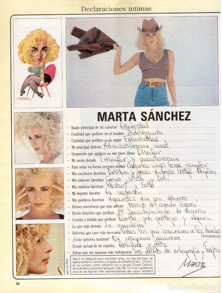 Coleccionismo de Revista Blanco y Negro: 1988. PALOMA SAN BASILIO. ALEJANDRA GREPI. MARTA SÁNCHEZ. MAYA PLISETSKAYA. JAVIER MARISCAL. VER. - Foto 10 - 134370418