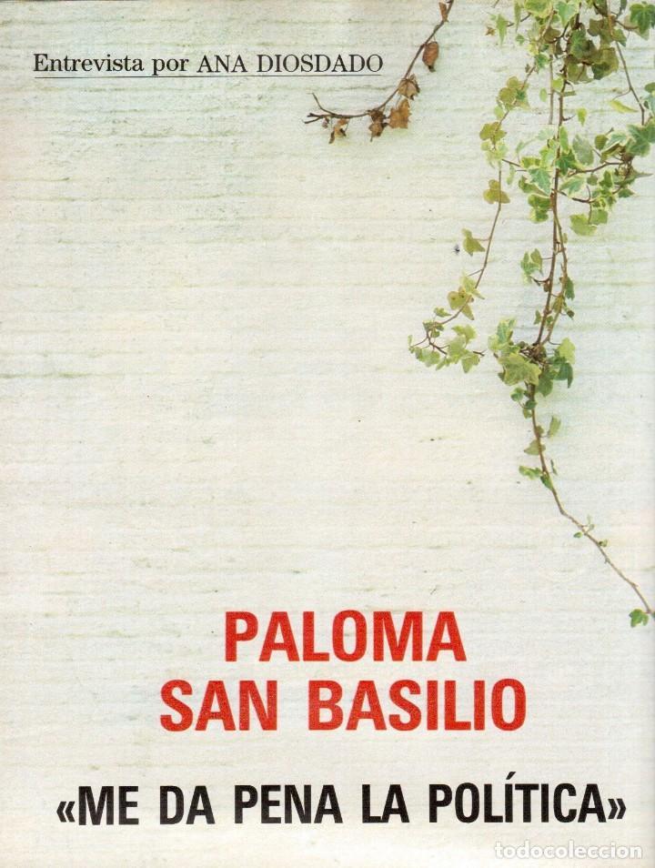 Coleccionismo de Revista Blanco y Negro: 1988. PALOMA SAN BASILIO. ALEJANDRA GREPI. MARTA SÁNCHEZ. MAYA PLISETSKAYA. JAVIER MARISCAL. VER. - Foto 15 - 134370418