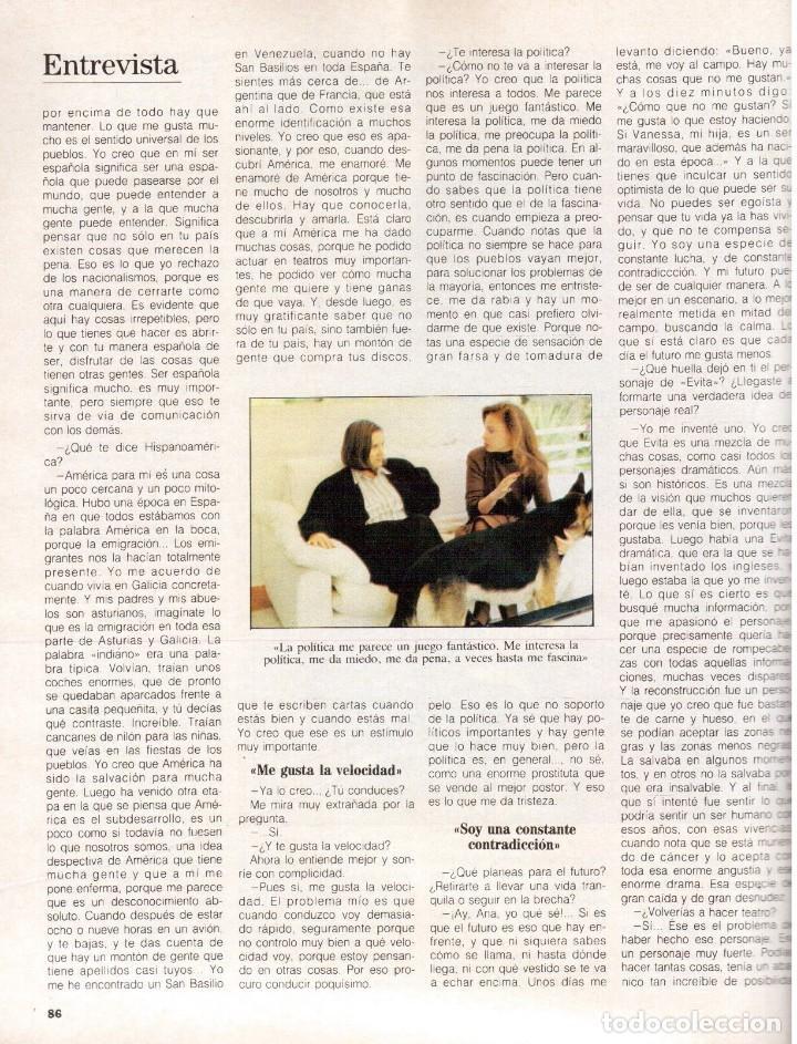 Coleccionismo de Revista Blanco y Negro: 1988. PALOMA SAN BASILIO. ALEJANDRA GREPI. MARTA SÁNCHEZ. MAYA PLISETSKAYA. JAVIER MARISCAL. VER. - Foto 18 - 134370418