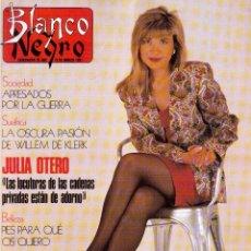 Coleccionismo de Revista Blanco y Negro: 1991. ROSA VALENTY. MIRTA MILLER. JACQUELINE DE LA VEGA Y LUZ. BLANCA MARSILLACH. VER SUMARIO.. Lote 134661298