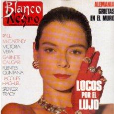 Coleccionismo de Revista Blanco y Negro: 1989. LOLA FORNER. LAURA BAYONAS. GABINETE CALIGARI. ANGELA MOLINA. SARA MONTIEL. VER SUMARIO.. Lote 134806178
