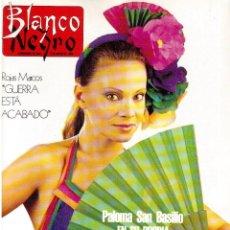 Coleccionismo de Revista Blanco y Negro: 1990. PALOMA SAN BASILIO. ALASKA. DAVID BYRNE. ROSA VALENTY. GIPSY KINGS. TINO CASAL. VER SUMARIO.. Lote 134982190