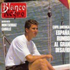 Coleccionismo de Revista Blanco y Negro: 1990. MONSERRAT CABALLÉ. LETICIA SABATER. BIBI ANDERSEN. ALASKA. PALOMA RODRÍGUEZ. MARILÓ MONTERO. . Lote 135173286