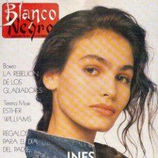 Coleccionismo de Revista Blanco y Negro: 1989. INÉS SASTRE. RADIO FUTURA. DRAZEN PETROVIC. JULIANNE PHILLIPS. CARMEN LINARES. MIKEL ERENTXUN.. Lote 135657031