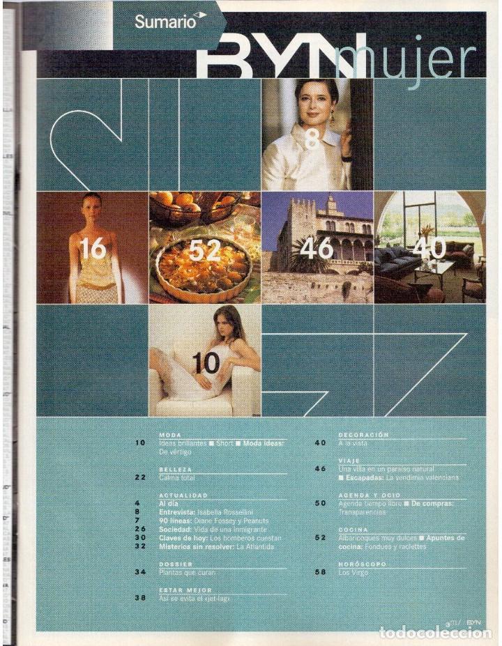 Coleccionismo de Revista Blanco y Negro: 2000. ISABELLA ROSSELLINI. PALMA DE MALLORCA. LA ATLANTIDA. VER SUMARIO. - Foto 2 - 136499538
