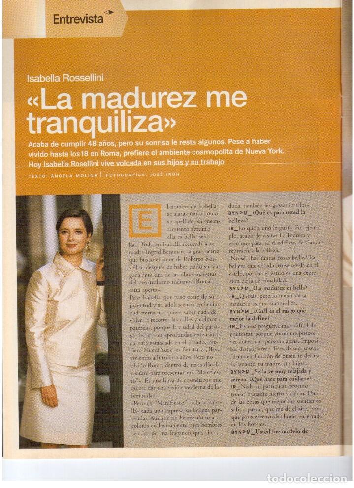 Coleccionismo de Revista Blanco y Negro: 2000. ISABELLA ROSSELLINI. PALMA DE MALLORCA. LA ATLANTIDA. VER SUMARIO. - Foto 3 - 136499538
