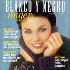 Coleccionismo de Revista Blanco y Negro: 2000. ANNE IGARTIBURU. ENRIQUE PONCE. 100 AÑOS DE MODA. PAÍS VASCO, PASEO POR LA COSTA. VER SUMARIO.. Lote 136539874