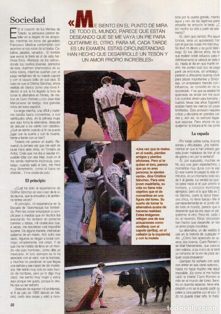 Coleccionismo de Revista Blanco y Negro: 1996. CRISTINA SÁNCHEZ. BLANCA SUELVES.FABIO CAPELLO.MÓNICA BELLUCI. VER SUMARIO... - Foto 21 - 120186975