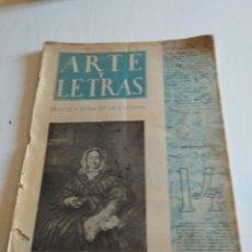 Coleccionismo de Revista Blanco y Negro: REVISTA ARTE Y LETRAS AÑO 2 N.14 5 DE FEBRERO DE 1944. Lote 138864229