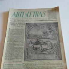 Coleccionismo de Revista Blanco y Negro: REVISTA ARTES Y LETRAS AÑO 1 N.9 1 DE AGOSTO DE 1943. Lote 138864524