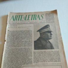 Coleccionismo de Revista Blanco y Negro: REVISTA ARTES Y LETRAS AÑO 1 N.13 15 DE OCTUBRE DE 1943. Lote 138864941
