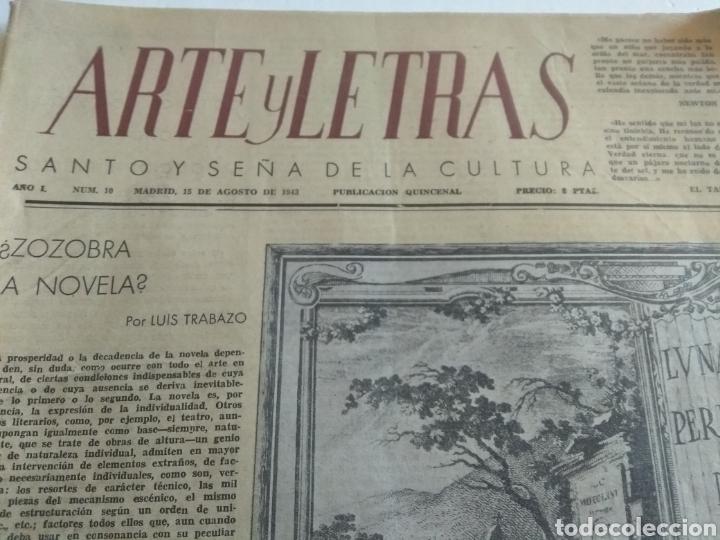 Coleccionismo de Revista Blanco y Negro: REVISTA ARTE Y LETRAS AÑO 1 N.10 15 DE AGOSTO DE 1943 - Foto 2 - 138865781