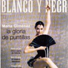 Coleccionismo de Revista Blanco y Negro: 1998. MARÍA GIMÉNEZ. JAVIER FESSER. PRINCE. ESTHER LAGO. VER SUMARIO.. Lote 139874782