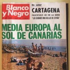 Coleccionismo de Revista Blanco y Negro: REVISTA BLANCO Y NEGRO- CARTAGENA ( LAS CIUDADES MAS BELLAS DE ESPAÑA). AÑO 1.969. Lote 140140226