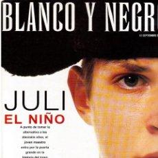 Coleccionismo de Revista Blanco y Negro: 1998. JARABE DE PALO. NACHO DUATO. EL JULI. ALMUDENA FÉRNANDEZ. FERRÁN ADRÍA. VER SUMARIO. . Lote 140171142