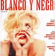 Coleccionismo de Revista Blanco y Negro: 1998. DARYL HANNAH. ANA ÁLVAREZ. ALL SAINTS. MARÍA VIDAL. LEONOR WAITLING. IGOR YEBRA. VER SUMARIO. . Lote 140186902