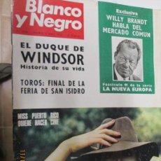 Coleccionismo de Revista Blanco y Negro: BLANCO Y NEGRO REVISTA SEMANAL N 3135 3 DE JUNIO DE 1972. Lote 140309806
