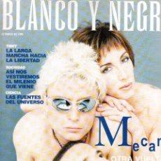 Coleccionismo de Revista Blanco y Negro: 1998. MECANO (7 PÁGS.). MARCELA MORELO. ETERNAL. PAOLA DOMINGUÍN. VER SUMARIO.. Lote 140615414