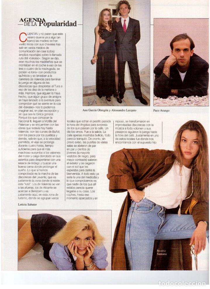 Coleccionismo de Revista Blanco y Negro: 1993. ANA GARCÍA OBREGÓN. BEATRIZ SANTANA. BEATRIZ RICO. MIA FARROW. LA DANZA DEL VIENTRE. VER. - Foto 3 - 141439826