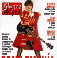 Coleccionismo de Revista Blanco y Negro: 1993. BEATLES. STEPHEN HAWKING. ROCÍO DURCAL. INXS. ELENA BARQUILLA. PATRICIA KRAUS. VER SUMARIO. Lote 141458110