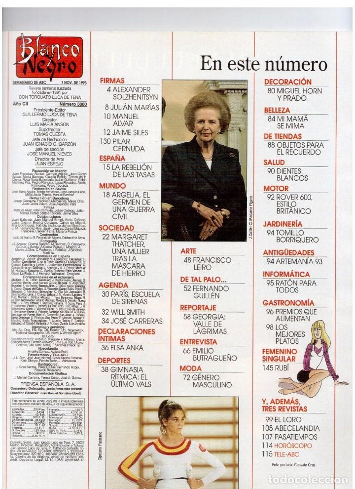 Coleccionismo de Revista Blanco y Negro: 1993. JUDIT MASCÓ. ELSA ANKA. BLANCA SUELVES. RUBI. VER SUMARIO. - Foto 2 - 141460078