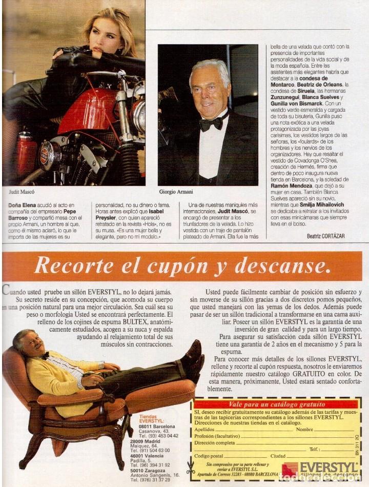 Coleccionismo de Revista Blanco y Negro: 1993. JUDIT MASCÓ. ELSA ANKA. BLANCA SUELVES. RUBI. VER SUMARIO. - Foto 3 - 141460078