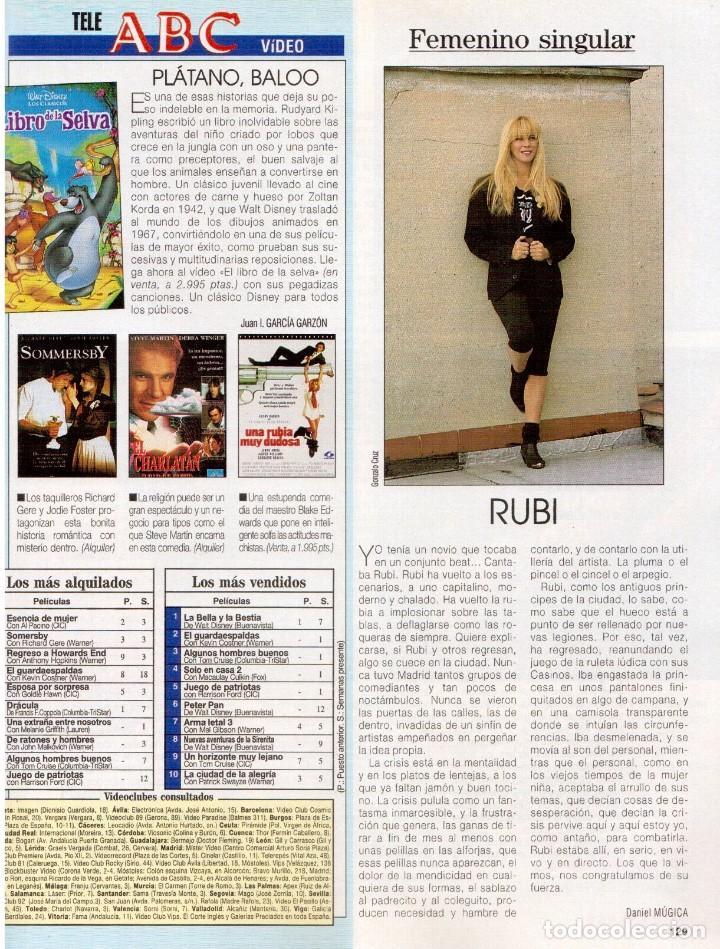 Coleccionismo de Revista Blanco y Negro: 1993. JUDIT MASCÓ. ELSA ANKA. BLANCA SUELVES. RUBI. VER SUMARIO. - Foto 13 - 141460078