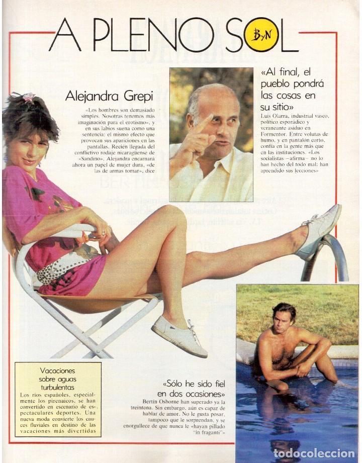Coleccionismo de Revista Blanco y Negro: 1989. MECANO. ALEJANDRA GREPI. EVA PEDRAZA. LOLA DE PÁRAMO. LOLA FORNER. BEATRIZ SANTANA. VER. - Foto 3 - 141564206