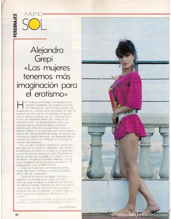 Coleccionismo de Revista Blanco y Negro: 1989. MECANO. ALEJANDRA GREPI. EVA PEDRAZA. LOLA DE PÁRAMO. LOLA FORNER. BEATRIZ SANTANA. VER. - Foto 4 - 141564206