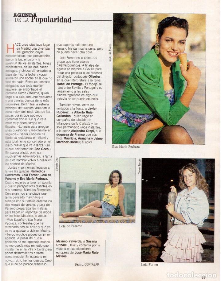 Coleccionismo de Revista Blanco y Negro: 1989. MECANO. ALEJANDRA GREPI. EVA PEDRAZA. LOLA DE PÁRAMO. LOLA FORNER. BEATRIZ SANTANA. VER. - Foto 5 - 141564206