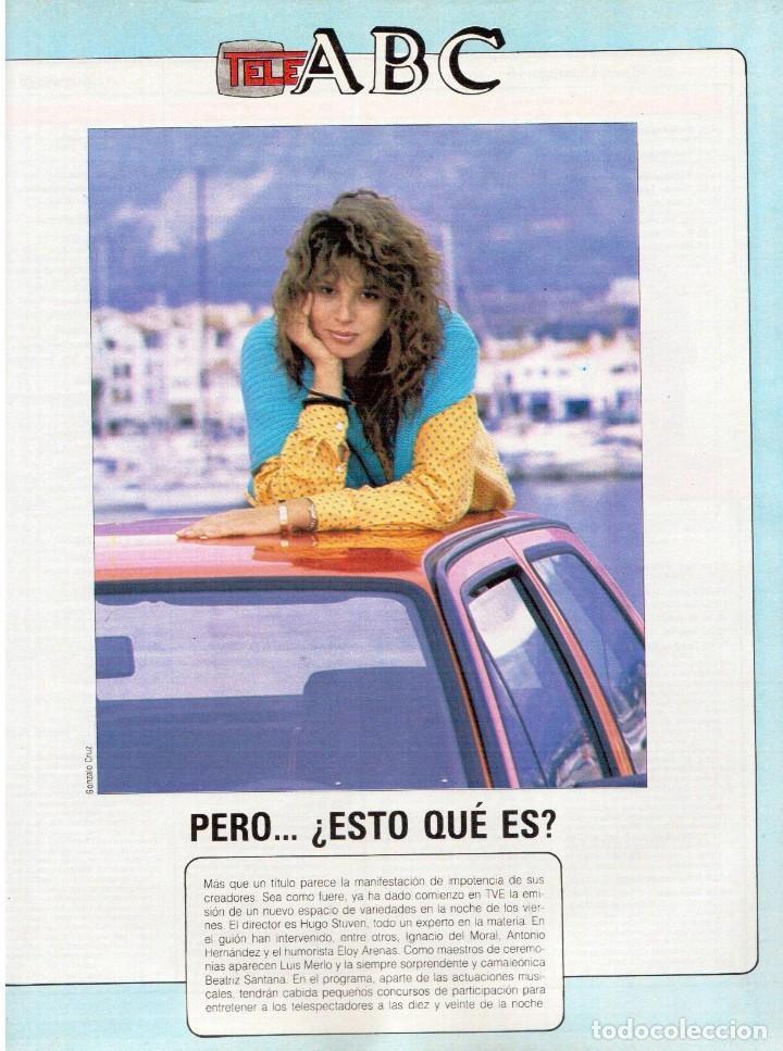 Coleccionismo de Revista Blanco y Negro: 1989. MECANO. ALEJANDRA GREPI. EVA PEDRAZA. LOLA DE PÁRAMO. LOLA FORNER. BEATRIZ SANTANA. VER. - Foto 11 - 141564206