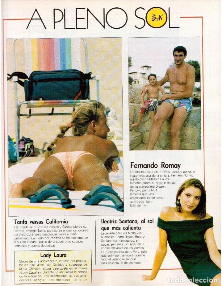 Coleccionismo de Revista Blanco y Negro: 1989. LORETO VALVERDE. BEATRIZ SANTANA. OBJETIVO BIRMANIA. ANA OBREGÓN. MIGUEL BOSÉ. LYDIA BOSCH. - Foto 3 - 141565706