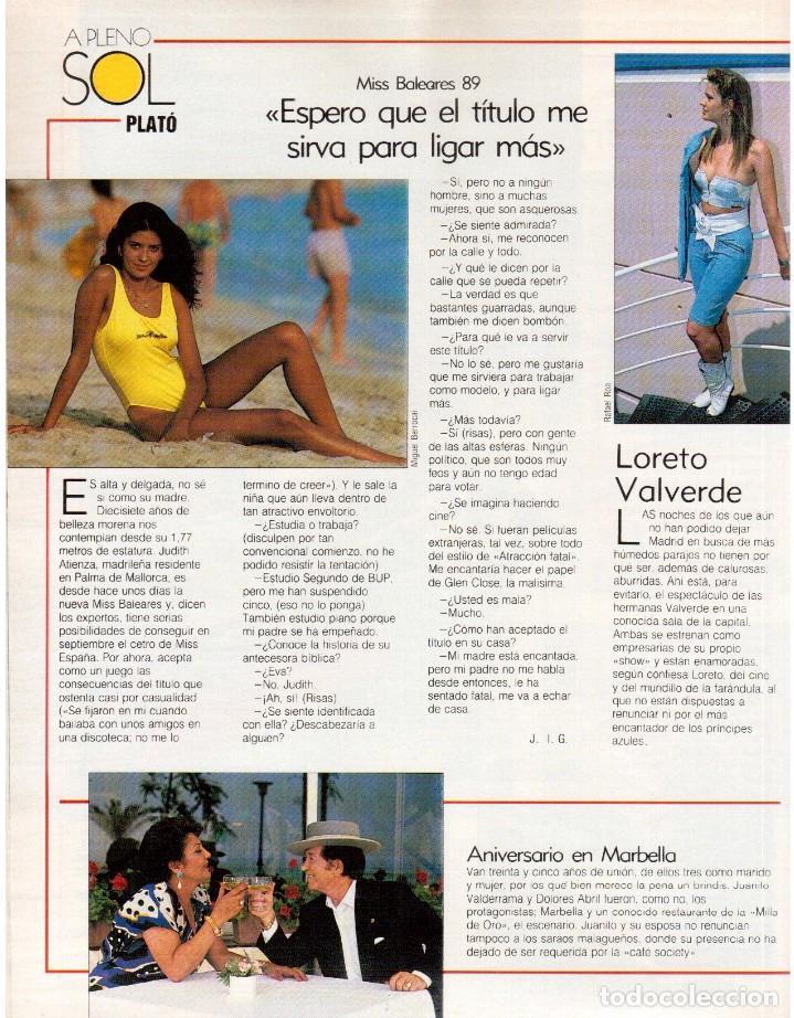 Coleccionismo de Revista Blanco y Negro: 1989. LORETO VALVERDE. BEATRIZ SANTANA. OBJETIVO BIRMANIA. ANA OBREGÓN. MIGUEL BOSÉ. LYDIA BOSCH. - Foto 4 - 141565706