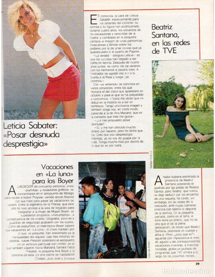 Coleccionismo de Revista Blanco y Negro: 1989. LORETO VALVERDE. BEATRIZ SANTANA. OBJETIVO BIRMANIA. ANA OBREGÓN. MIGUEL BOSÉ. LYDIA BOSCH. - Foto 5 - 141565706