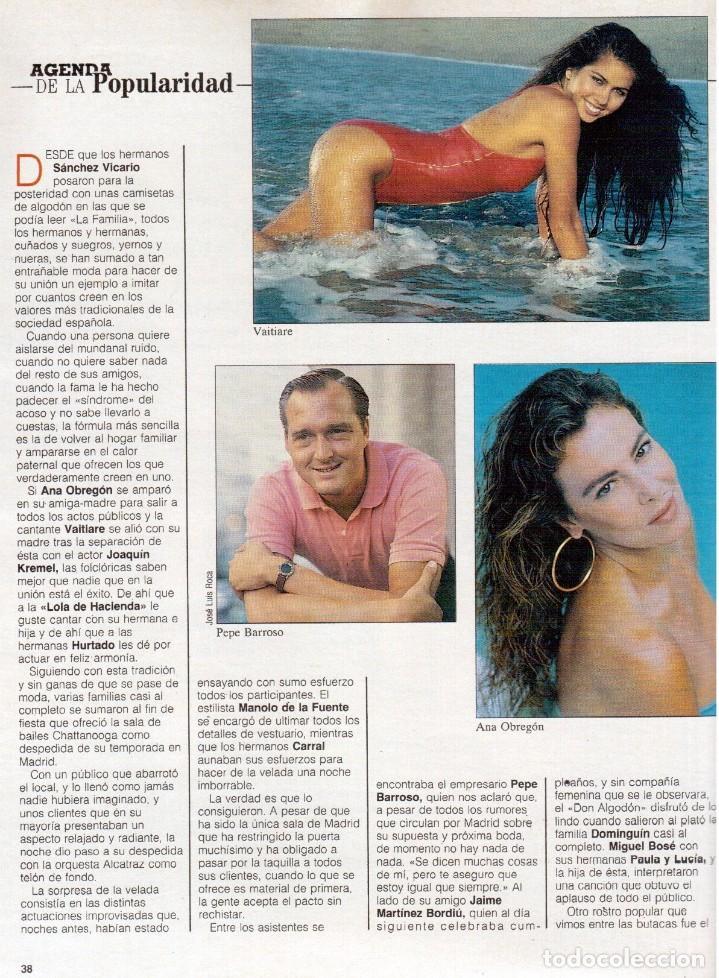 Coleccionismo de Revista Blanco y Negro: 1989. LORETO VALVERDE. BEATRIZ SANTANA. OBJETIVO BIRMANIA. ANA OBREGÓN. MIGUEL BOSÉ. LYDIA BOSCH. - Foto 8 - 141565706
