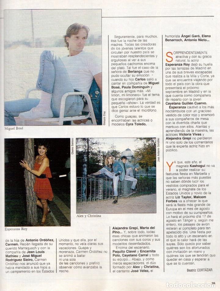 Coleccionismo de Revista Blanco y Negro: 1989. LORETO VALVERDE. BEATRIZ SANTANA. OBJETIVO BIRMANIA. ANA OBREGÓN. MIGUEL BOSÉ. LYDIA BOSCH. - Foto 9 - 141565706