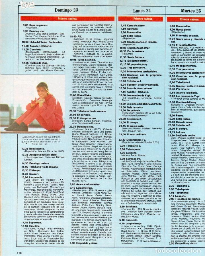 Coleccionismo de Revista Blanco y Negro: 1989. LORETO VALVERDE. BEATRIZ SANTANA. OBJETIVO BIRMANIA. ANA OBREGÓN. MIGUEL BOSÉ. LYDIA BOSCH. - Foto 11 - 141565706