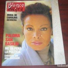 Coleccionismo de Revista Blanco y Negro: REVISTA BLANCO NEGRO Nº 3619- 1988- MODA CAROLINA HERRERO- PALOMA SAN BASILIO. Lote 141826942