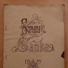 Coleccionismo de Revista Blanco y Negro: SEMANA SANTA 1935,REVISTA BLANCO Y NEGRO. Lote 142098954