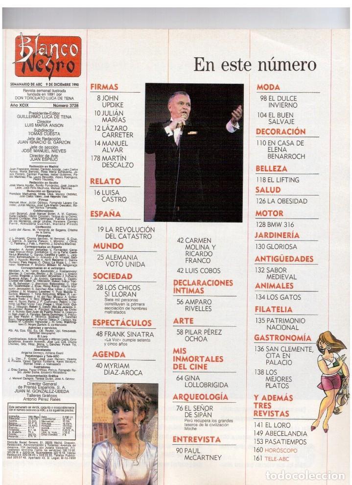 Coleccionismo de Revista Blanco y Negro: 1990. PAUL MCCARTNEY. MIRIAM DÍAZ-AROCA. CARMEN MOLINA Y RICARDO FRANCO. POLICARPIO DÍAZ. VER - Foto 2 - 142305702
