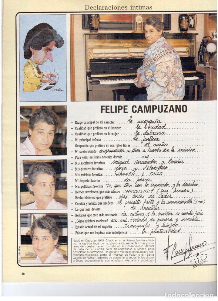 Coleccionismo de Revista Blanco y Negro: 1990. JUDIT MASCÓ. PACO DE LUCÍA. MÓNICA MOLINA. LAURA VALENZUELA. ROSA BERNAL. VER SUMARIO. - Foto 5 - 142507658
