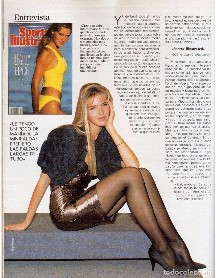Coleccionismo de Revista Blanco y Negro: 1990. JUDIT MASCÓ. PACO DE LUCÍA. MÓNICA MOLINA. LAURA VALENZUELA. ROSA BERNAL. VER SUMARIO. - Foto 9 - 142507658